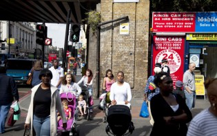 Mothers in Brixton London UK