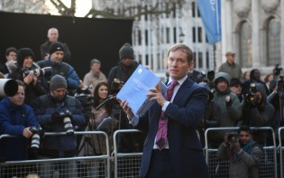 London, Chris Bryant, Labour Party MP for Rhondda addressing the press outside the Queen Elizabeth II Centre, regarding The Leveson Report