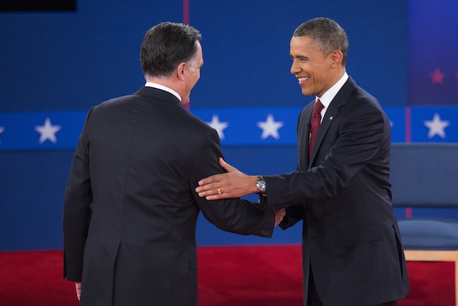 US 2012 Elections Presidential Debate Barack Obama Mitt Romney