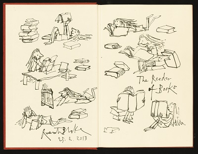 Quentin Blake adds illustrations to Roald Dahl's Matilda © Sotheby's