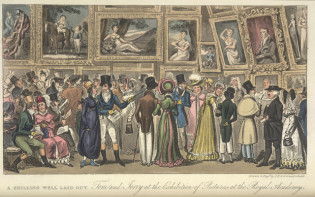 Tom and Jerry at the Exhibition of Pictures at the Royal Academy © The British Library Board