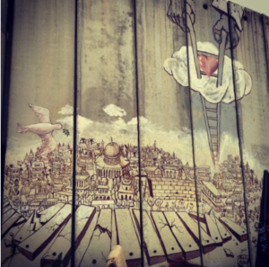 A powerful image on the separation wall credit@jamiefarquharson