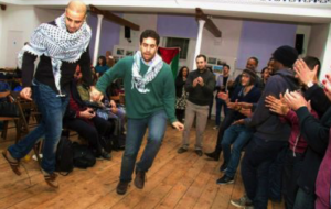 Palestinian dancers skilfully showing off their quick feet. Credit @QSphotographer.com