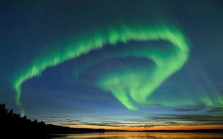 Aurora Borealis in late spring.  Credit@ Visit Finland via Flickr.com