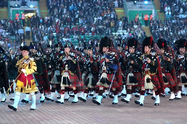 A much loved Scottish bagpipe band took to the stage in the opening ceremony. Credit@Cameron King via flickr.com