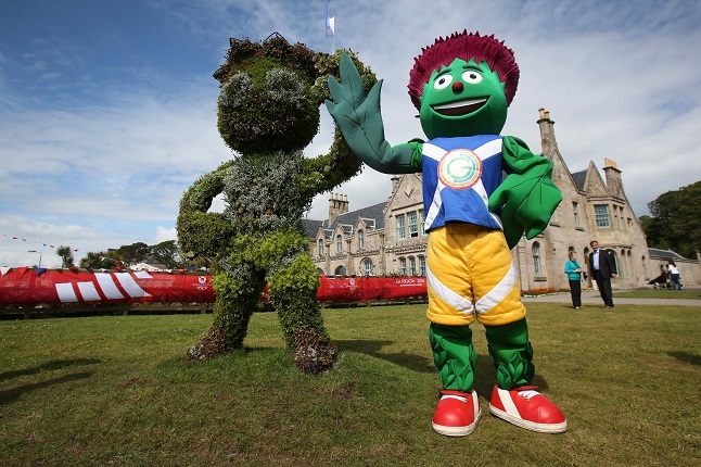 The official mascot of the Glasgow 2014 Games called Clyde. Credit@North Ayrshire via flickr.com