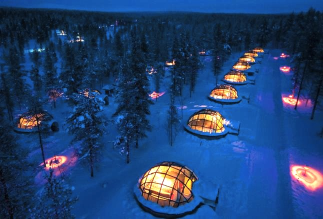 Kakslauttanen Igloo village, Finland.  Credit@ Visit Finland via Flickr.com