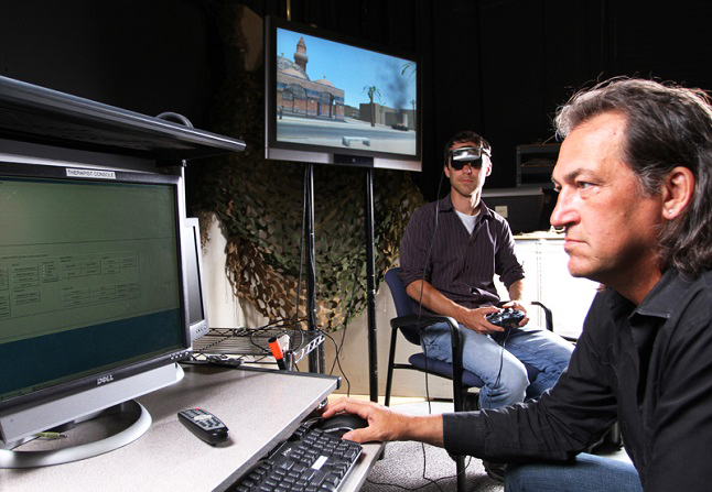 Dr Albert Rizzo using virtual reality to treat challenging mental conditions. Creidt@Albertrizzo