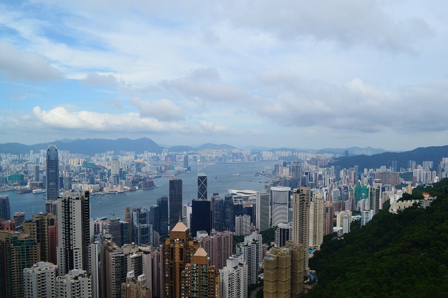 Hong Kong's impressive skyline from The Peak. Credit@Gemma D'Souza