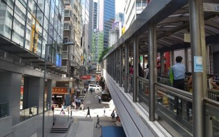 Hong Kong's elevated walkways through the city. Credit@Gemma D'Souza