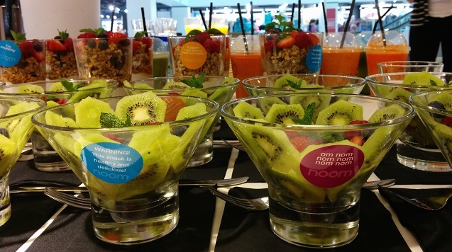 Healthy snacks at a Noom event. Credit@Noom.