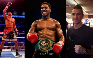 DeGale, Joshua and Smith all found victory in Liverpool. credit@James DeGale Official Fan Page & Anthony Joshua via Facebook, and CallumSmith23 via Twitter.