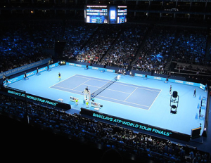 ATP World Tour Finals in O2 Arena. Credit@topnotchtennistours