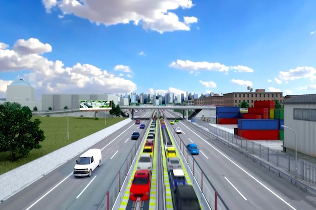 The new animation outlines the design of the TEV track and how its modular construction aims to revolutionise road travel. Image credit @www.tevproject.com