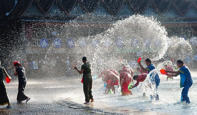 Water matches for New Years in Thailand! credit@wikimedia
