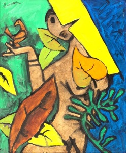 Oil on Canvas, 2003. Credit@ M F Husain, Sanchit Art