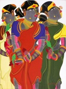 Arcylic on Canvas, 2011.  Credit@ Thota Vaikuntam, Sanchit Art