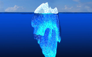 Illustration of the deep web versus the surface web - most web users see only the 'tip of the iceberg'. Credit@NASA/JPL Caltech