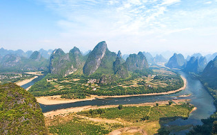 Karst landforms have given rise to some of Earth's most picturesque landscapes, such as the Lijiang River in Guilin, China. Credit@Chensiyuan