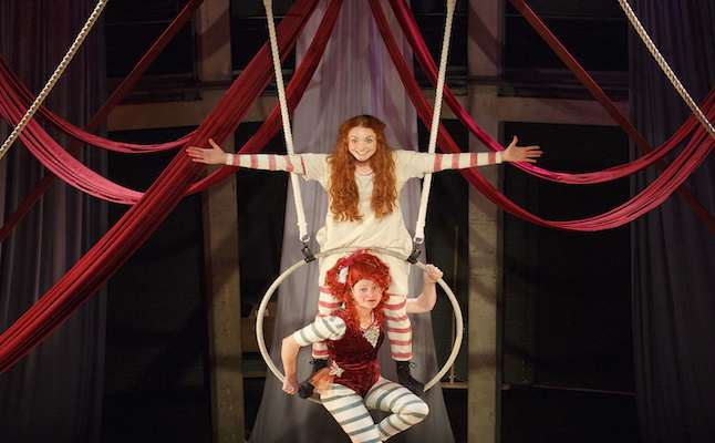 Phoebe Thomas as Hetty and Nikki Warwick as Mdm Adeline with Company. Credit@ Donald Cooper