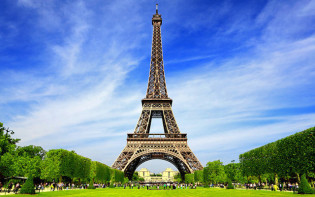 The Eiffel Tower on a sunny day. Credit@planetware.com