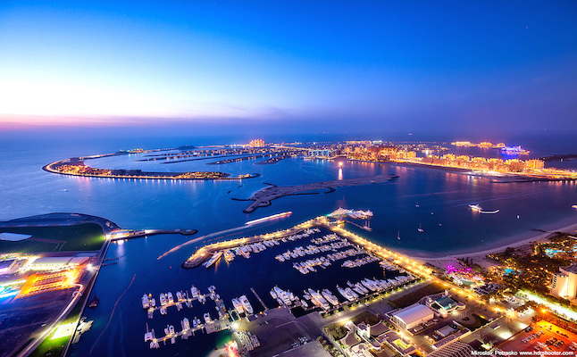 View of artificial islands in Dubai.Credit@miroslavpetrasko.flickr.com
