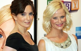 Tina Fey and Poehler at New York film premiere, April 2008.Credit@Wikipedia