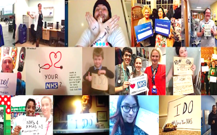 Staff and patients showing tribute to the NHS.Credit@LoveYourNHSYoutube