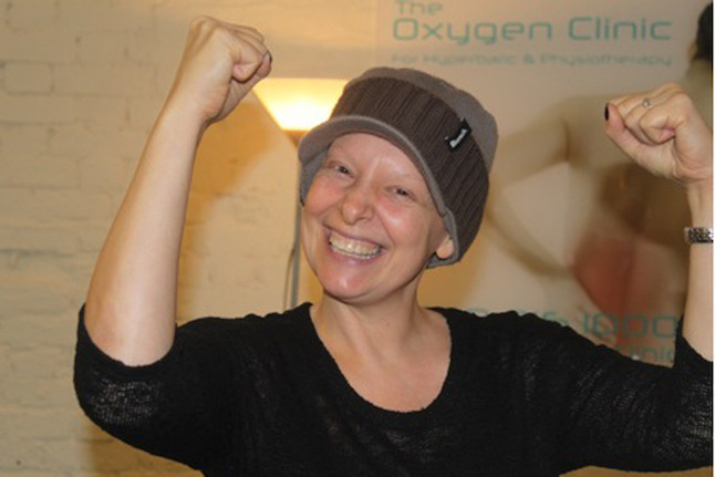 Ruth Hughes treated at The oxygen clinic using hyperbaric oxygen therapy.Credit@theoxygenclinic.co.uk
