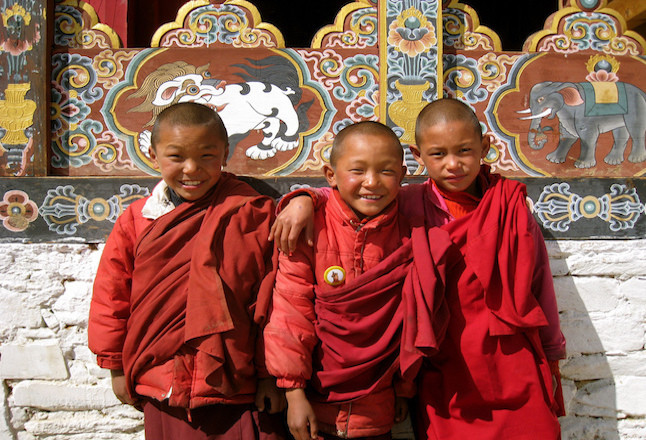 Young Bhutanese monks.Credit@brentolson.flickr.com