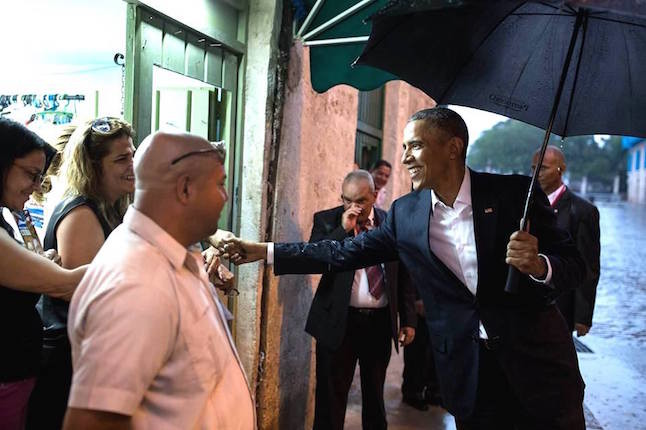 President Obama meets local Cubans in Havana.Credit@Pete.Souza.whitehouse.gov