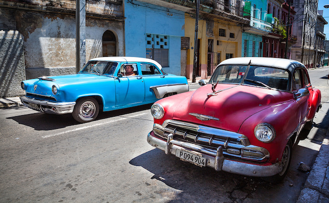 Vintage 1950s cars are common in Cuba.Credit@Angelo.Domini.flickr.com