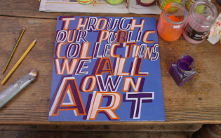 The website ART UK is launched by Bob and Roberta Smith. Credit@ Boband RobertaSmithArt-UKartwork1Credit@ Boband RobertaSmithArt-UKartwork1