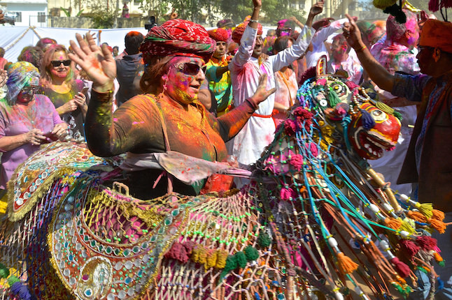 Colourful parades during Holi.Credit@Analucia.Rodriguez.Davila.flickr.com