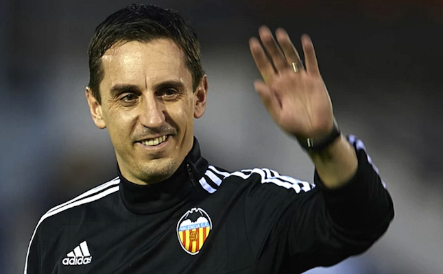 Gary Neville as Valencia FC manager.Credit@101greatgoals1