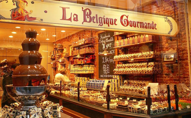 One of many chocolate shops in Brussels.Credit@Jessica.Gardner.flickr.com