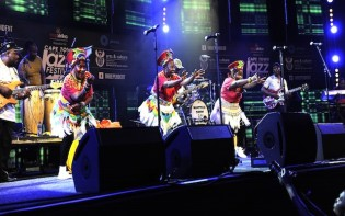 Cape Town 150327. Mahotella Queens from South Africa performs at Kippies stage during the 16th Cape Town International Jazz festival.Credit@Fest30