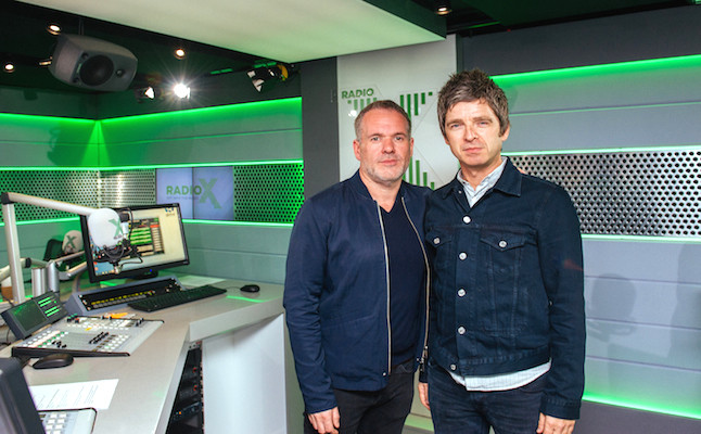Noel Gallagher and Chris Moyles.Credit@RadioX