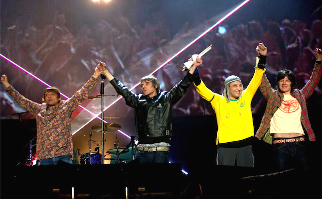 The Stone Roses live.Credit@facebook.com