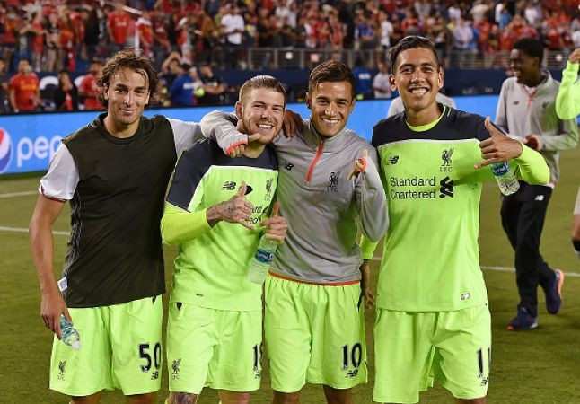 Liverpool players celebrating their victory. Credit @tumblr.com