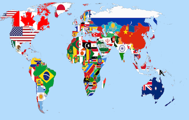 World Flag Map. Credit@commons.wikimedia.org