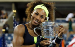 Serena Williams celebrating winning one of her six US Opens. Credit @tumblr.com.
