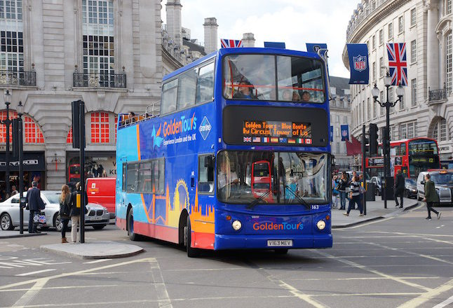 Golden Tours London bus. Credit@Wikimedia Commons