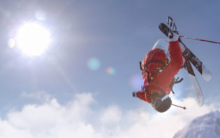 Pulling off some complex stunts in Steep. Credit@Ubisoft