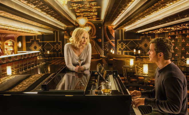 Jennifer Lawrence and Chris Pratt star in Columbia Pictures' Passengers. © 2016 Columbia Pictures Industries, Inc. All Rights Reserved.