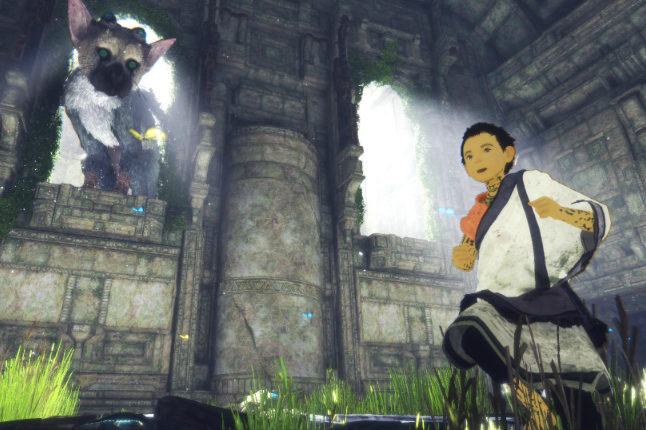 The unlikely pair explore the ruins of The Last Guardian Credit@SonyInteractiveEntertainment