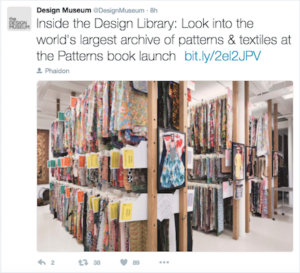 Using Twitter to engage guests Credit@DesignMuseumviaTwitter