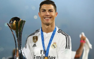 Cristiano Ronaldo celebrates his team's victory in the Club World Cup. Credit @pinterest.com.