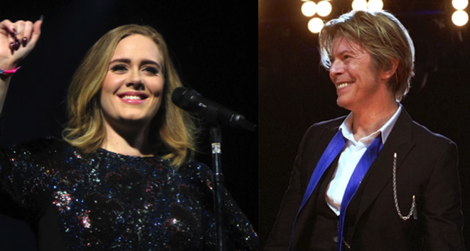 Adele and Bowie add music influence to 2016. Credit@wikipedia