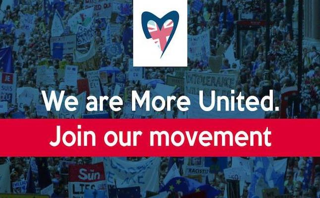 More United is a crowdfunding movement for change. Credit@moreunitedviafacebook
